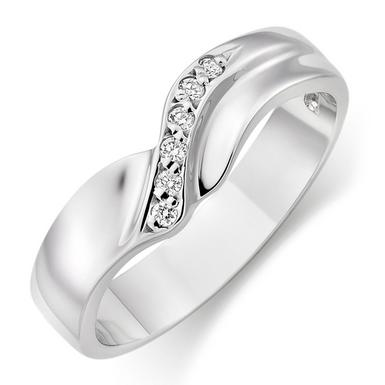 9ct White Gold Diamond Wedding Ring