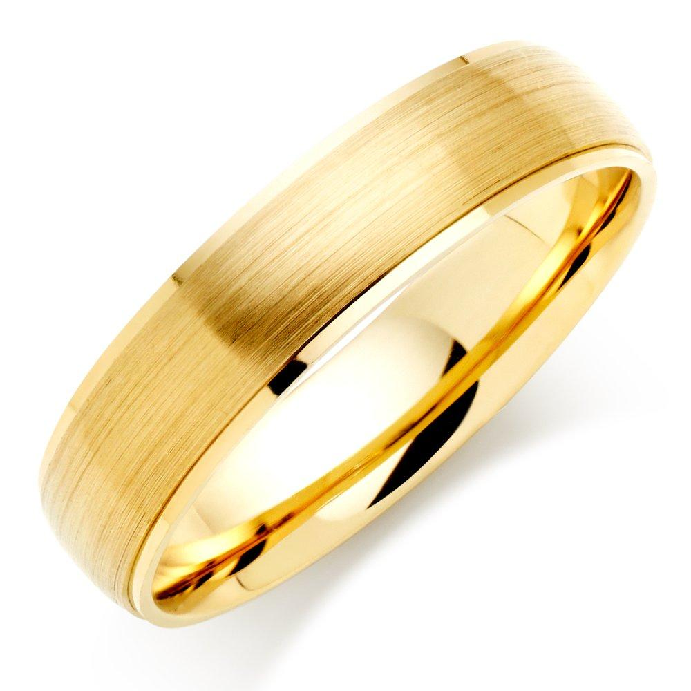 9ct Gold Brushed Men's Wedding Ring