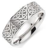 9ct White Gold Celtic Men's Wedding Ring
