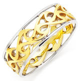 9ct Gold and White Gold Celtic Men's Wedding Ring
