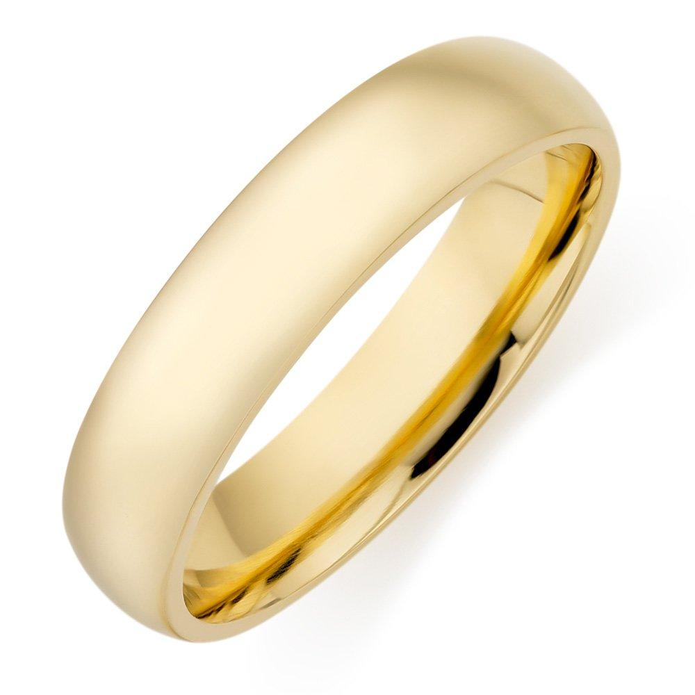 Men's 18ct Gold Court Wedding Ring