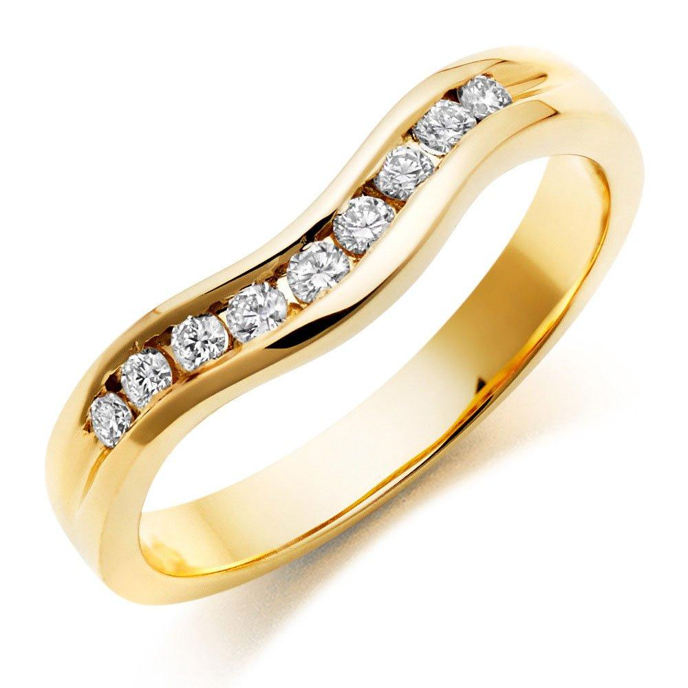 18ct Gold Diamond Shaped Wedding Ring
