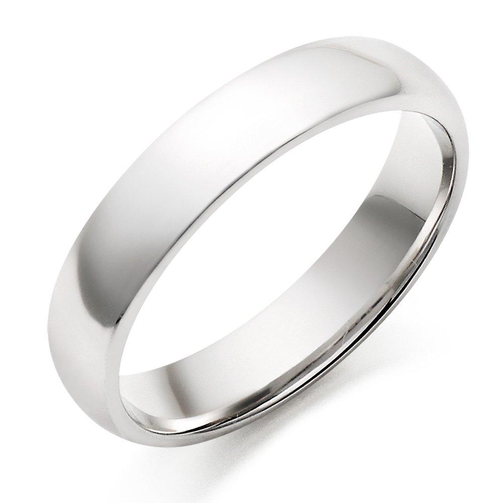 18ct White Gold Men's Wedding Ring