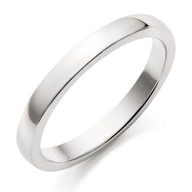 18ct White Gold Court Wedding Ring