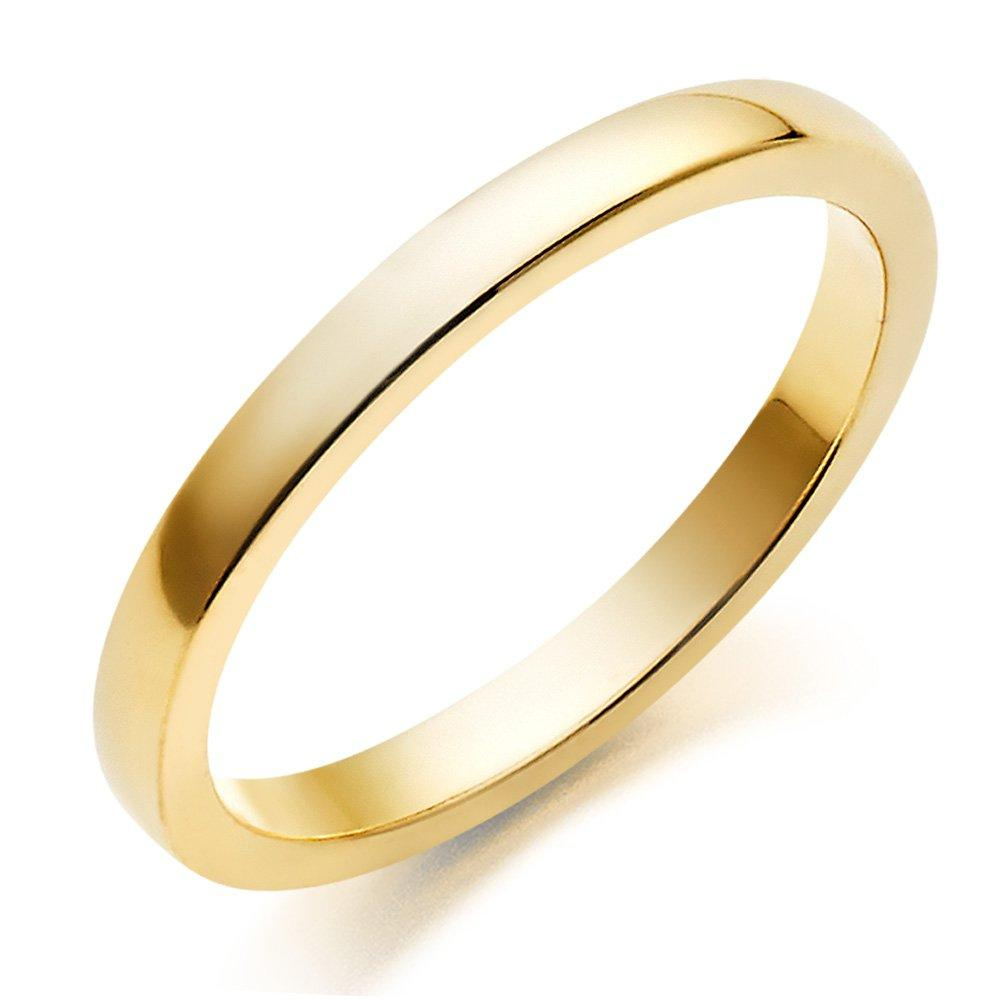 18ct Gold Plain Court Wedding Ring