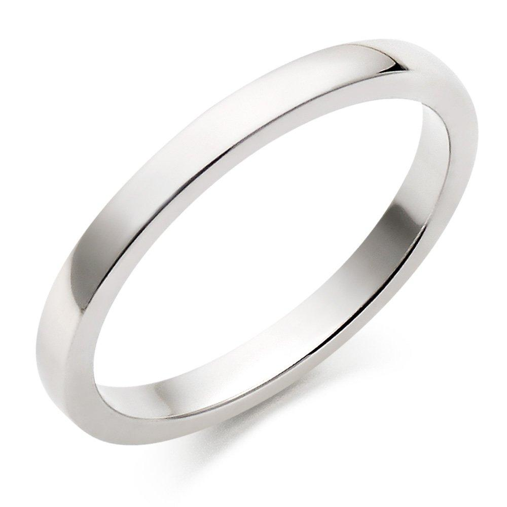 18ct White Gold Court Wedding Ring