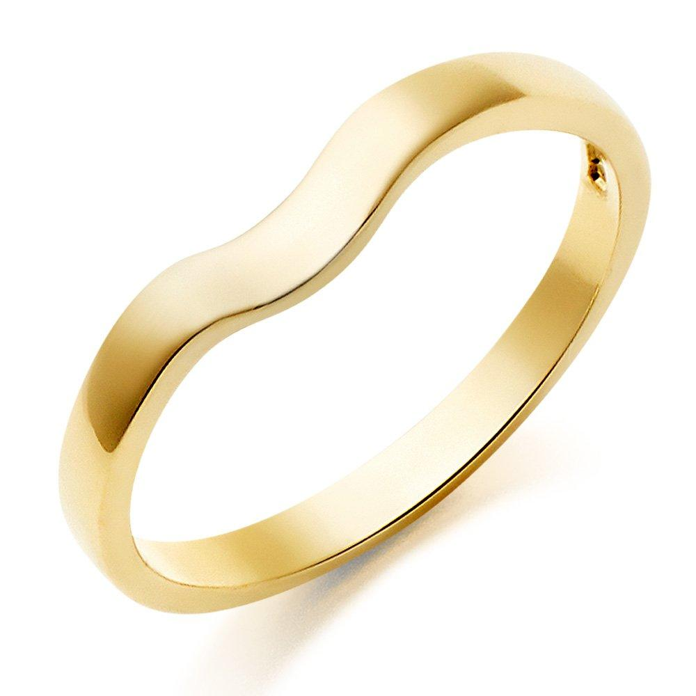 18ct Gold Shaped Wedding Ring
