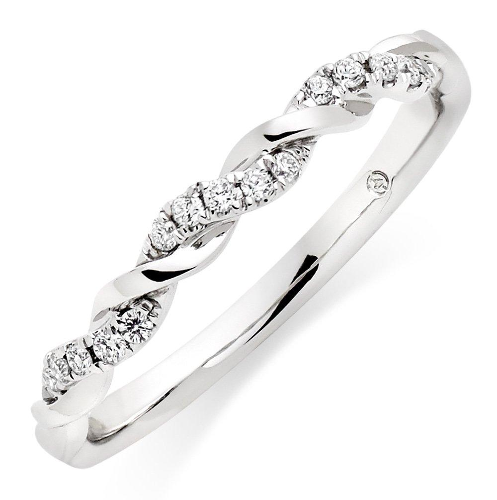 Entwine 18ct White Gold Diamond Twist Ring