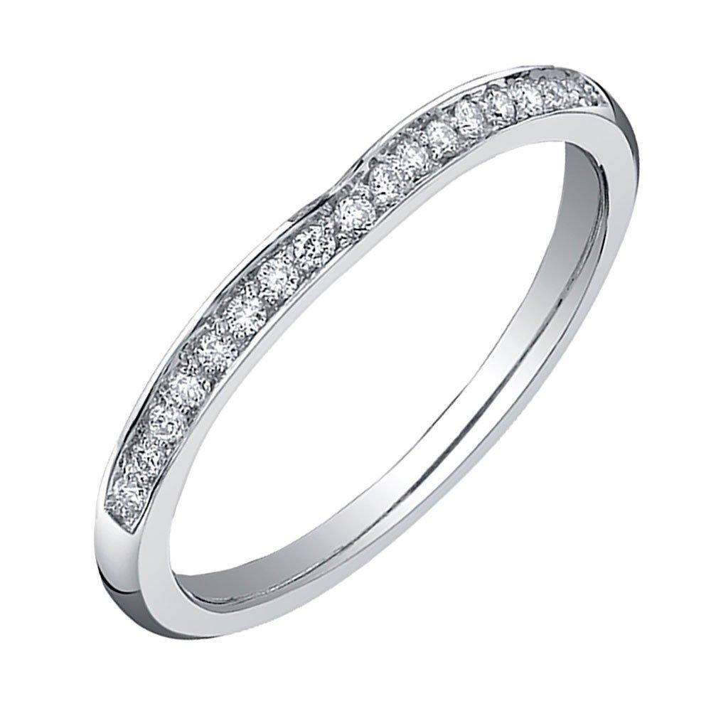 Maple Leaf Diamonds 18ct White Gold Diamond Wedding Ring