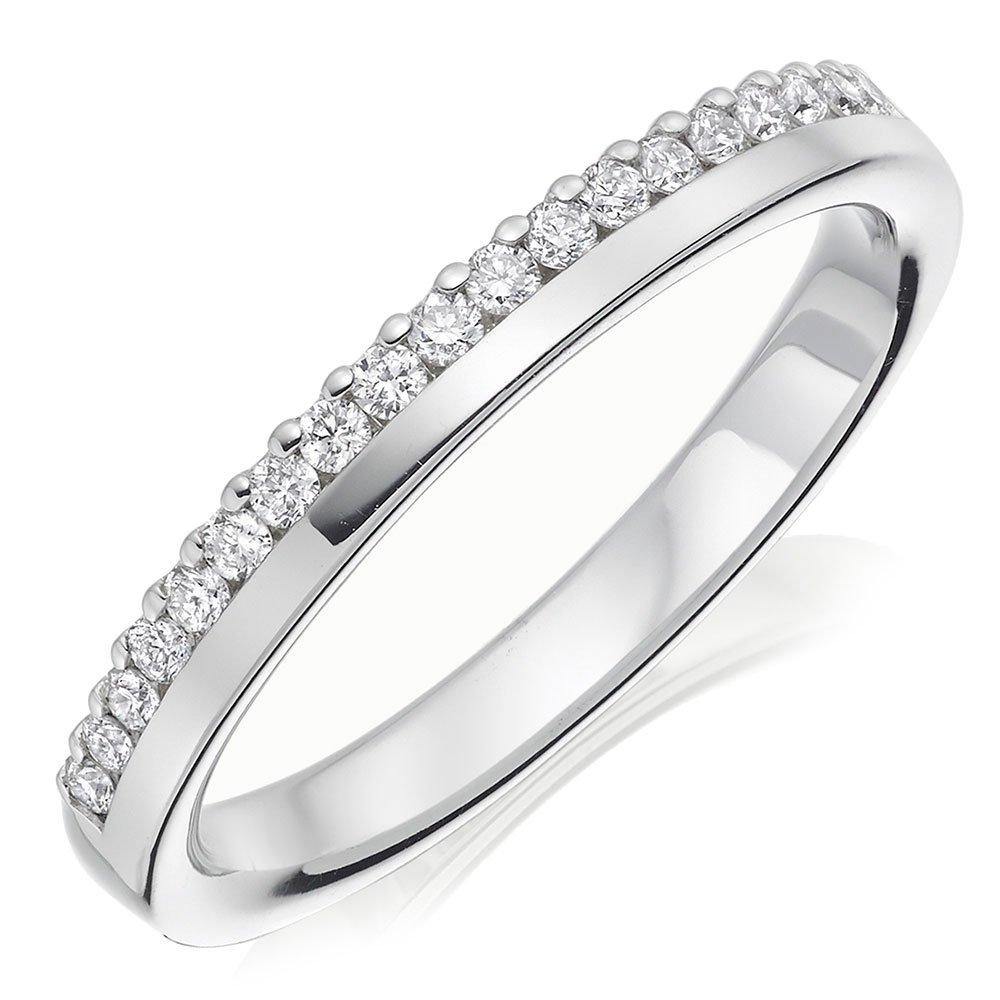 18ct White Gold Diamond Ladies Wedding Ring