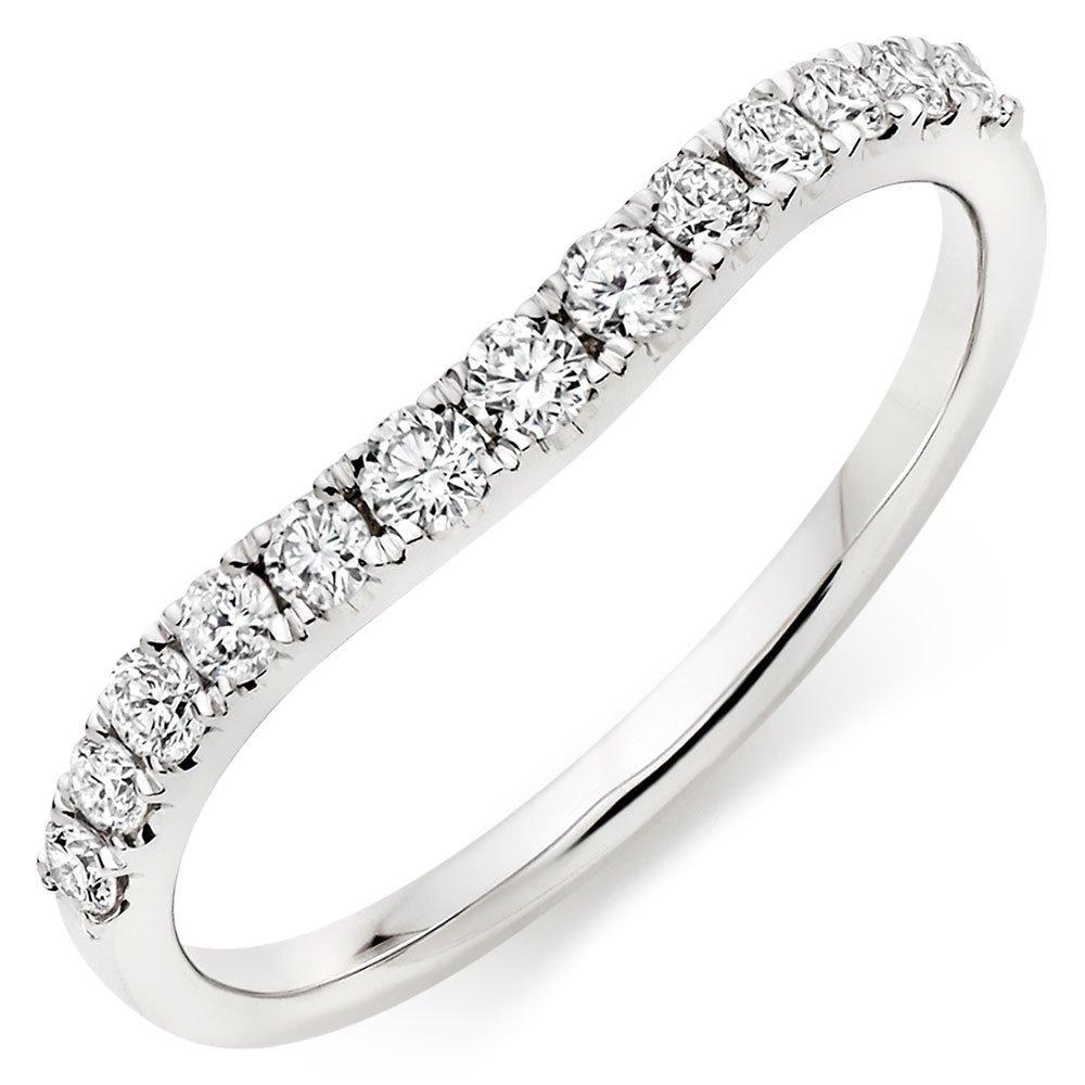 18ct White Gold Diamond Half Eternity Wedding Ring