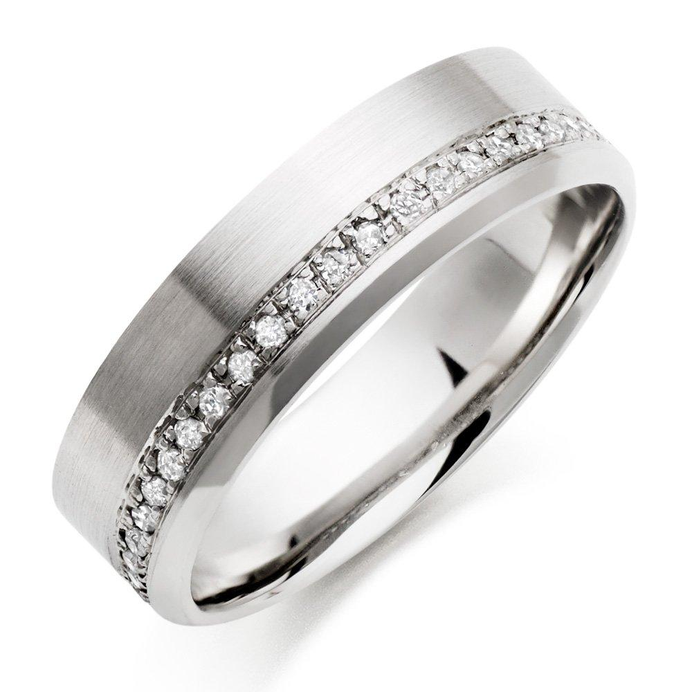 Palladium Diamond Men's Wedding Ring
