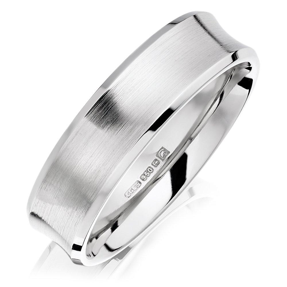 Palladium Brushed Men's Wedding Ring