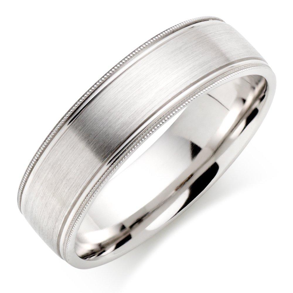 Palladium Brushed Men's Wedding Ring