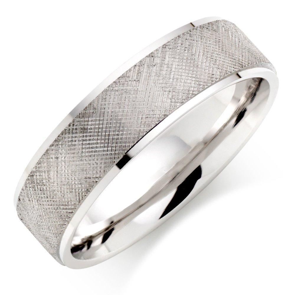Men's Palladium Crosshatch Wedding Ring