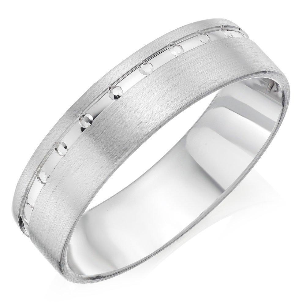 Palladium Matt and Polished Men's Wedding Ring