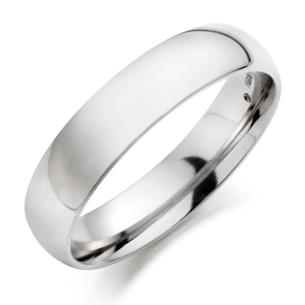Men's Platinum Court Wedding Ring