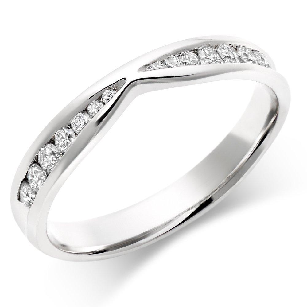 Platinum Diamond Shaped Wedding Ring