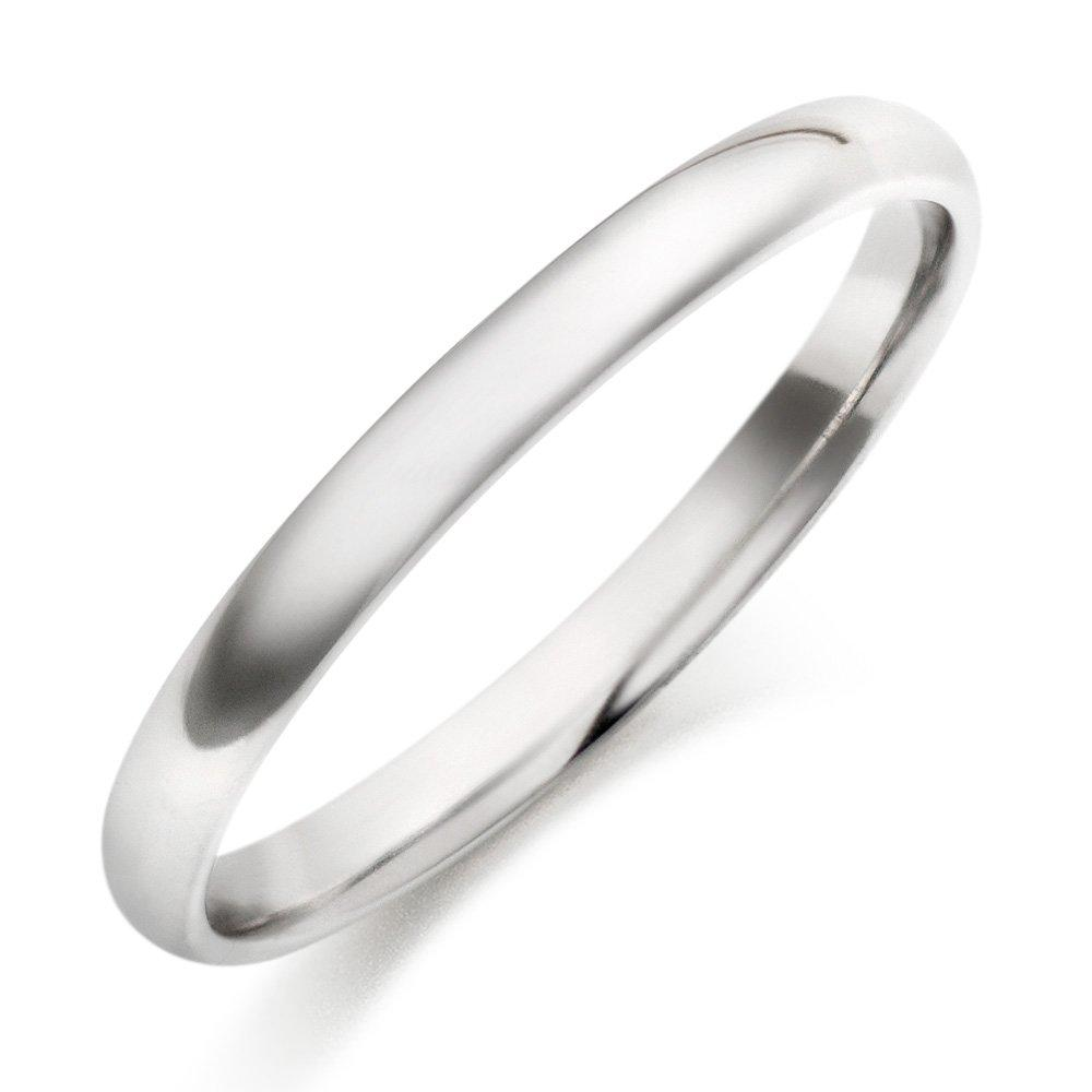 Platinum Court Wedding Ring - 2mm