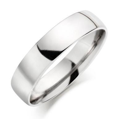 Platinum Court Wedding Ring - 5mm
