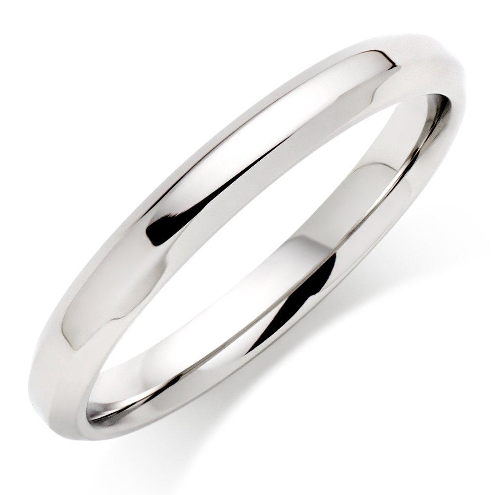 Platinum Chamfered Wedding Ring