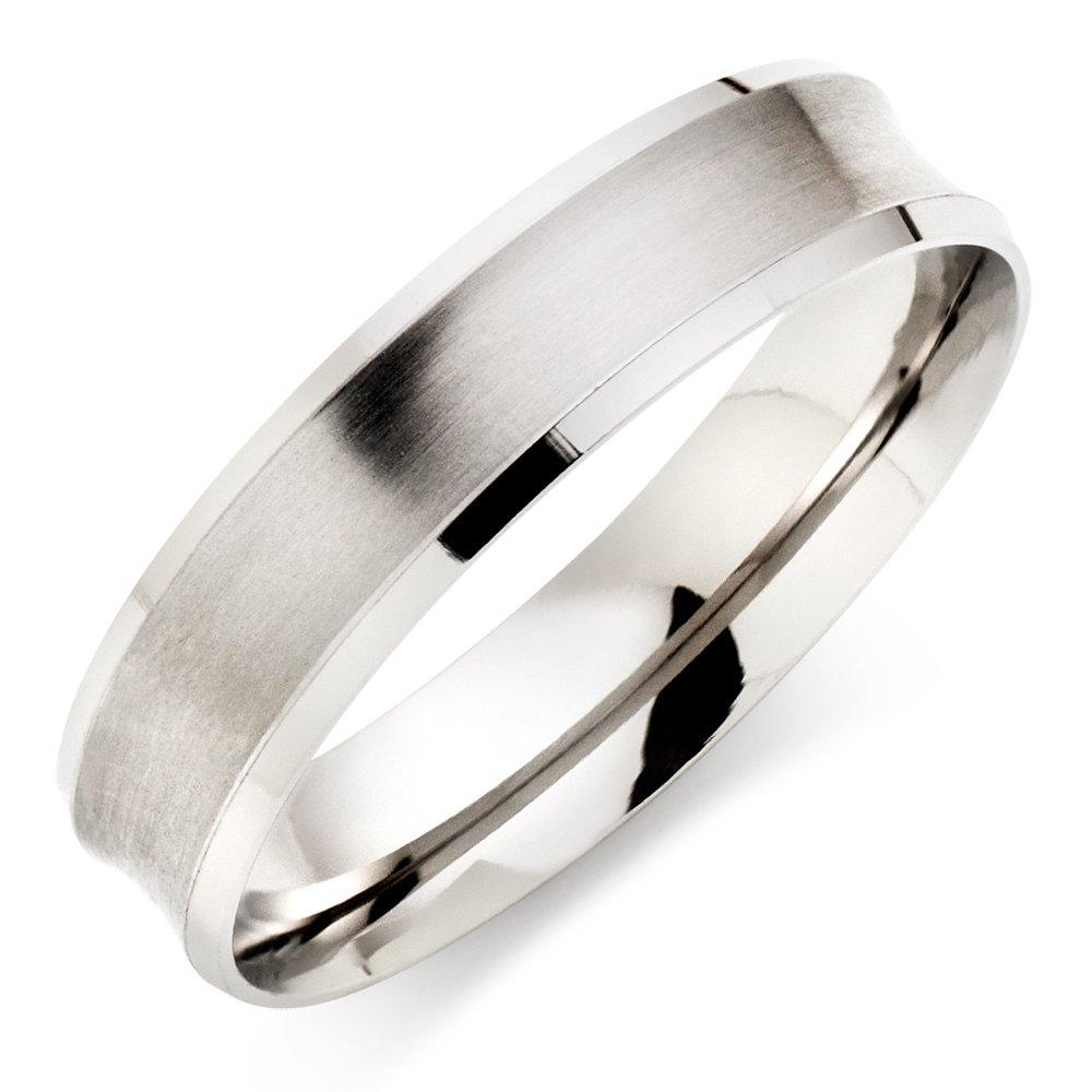 Platinum Brushed Men's Wedding Ring