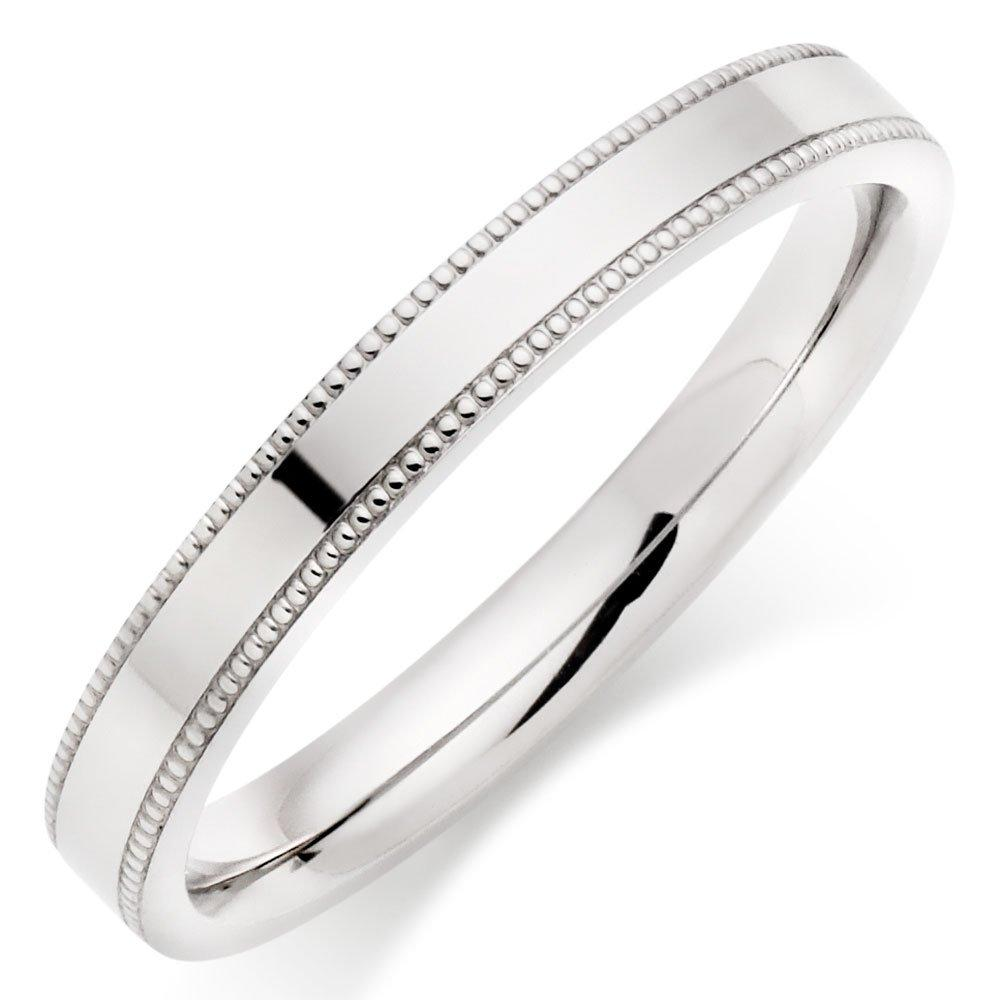 Platinum Vintage Ladies Wedding Ring