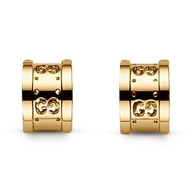 Gucci Icon Twirl 18ct Gold Earrings