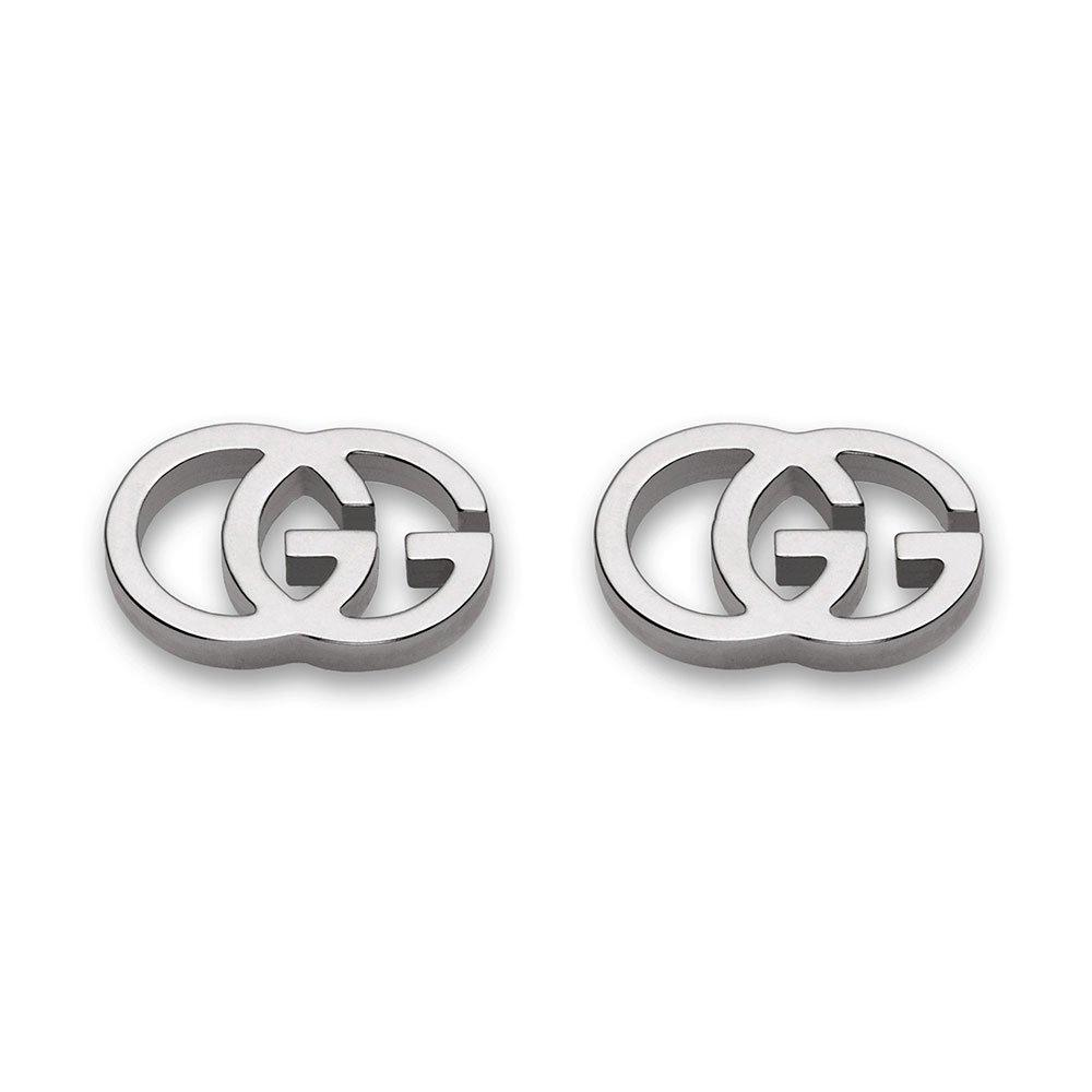 Gucci GG Tissue 18ct White Gold Stud Earrings