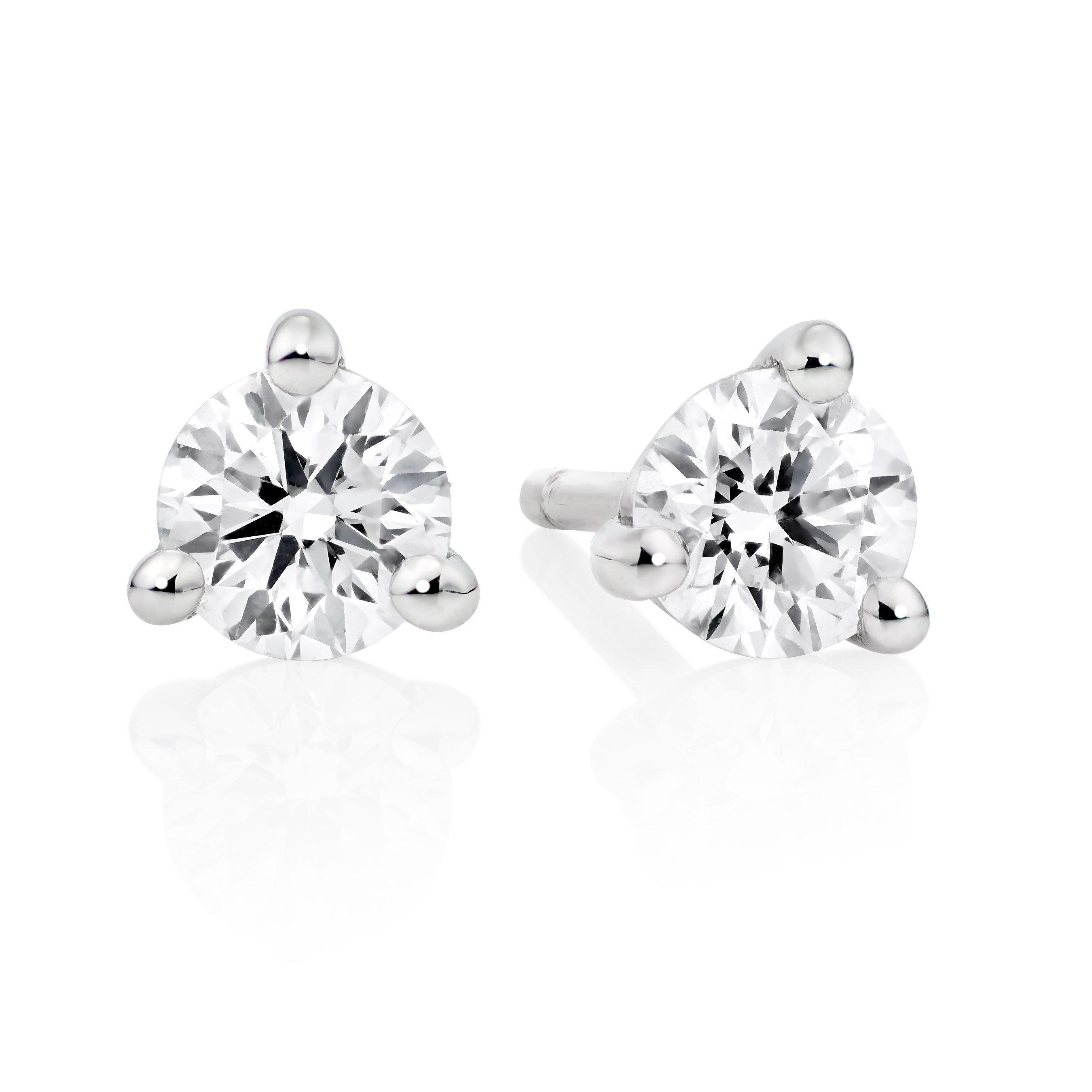 Hearts On Fire 18ct White Gold Diamond Earrings