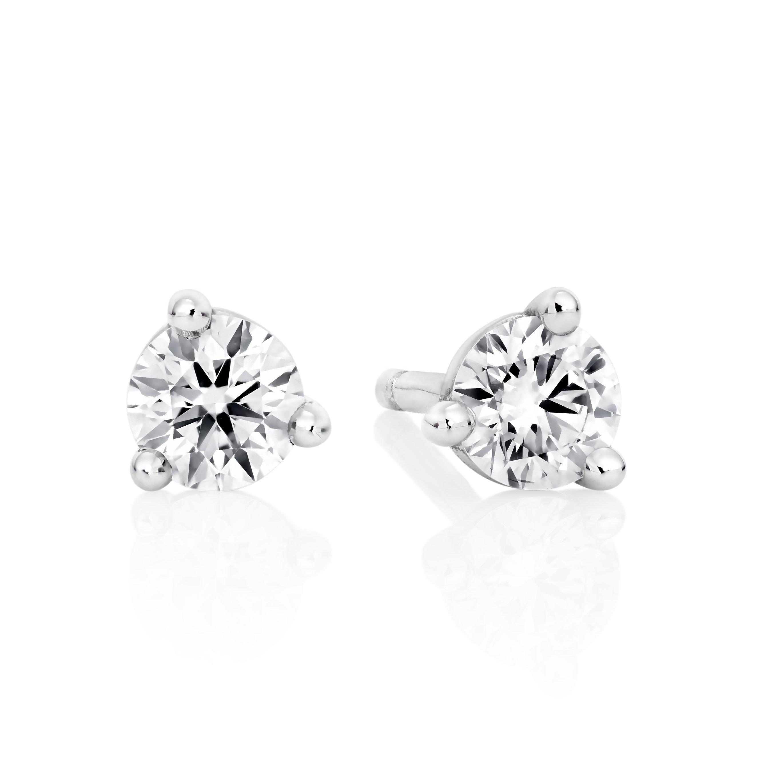Hearts On Fire 18ct White Gold Diamond Stud Earrings