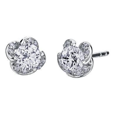Maple Leaf Diamonds Wind's Embrace 18ct White Gold Diamond Stud Earrings