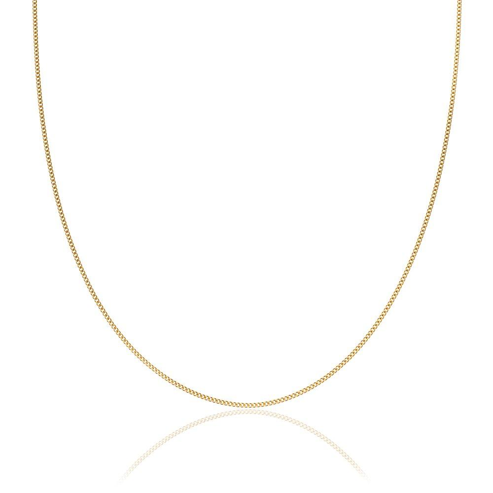 18ct Yellow Gold Curb Chain 45cm