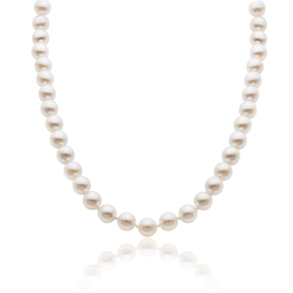 18ct Gold Cultured Pearl Necklace - 45cm