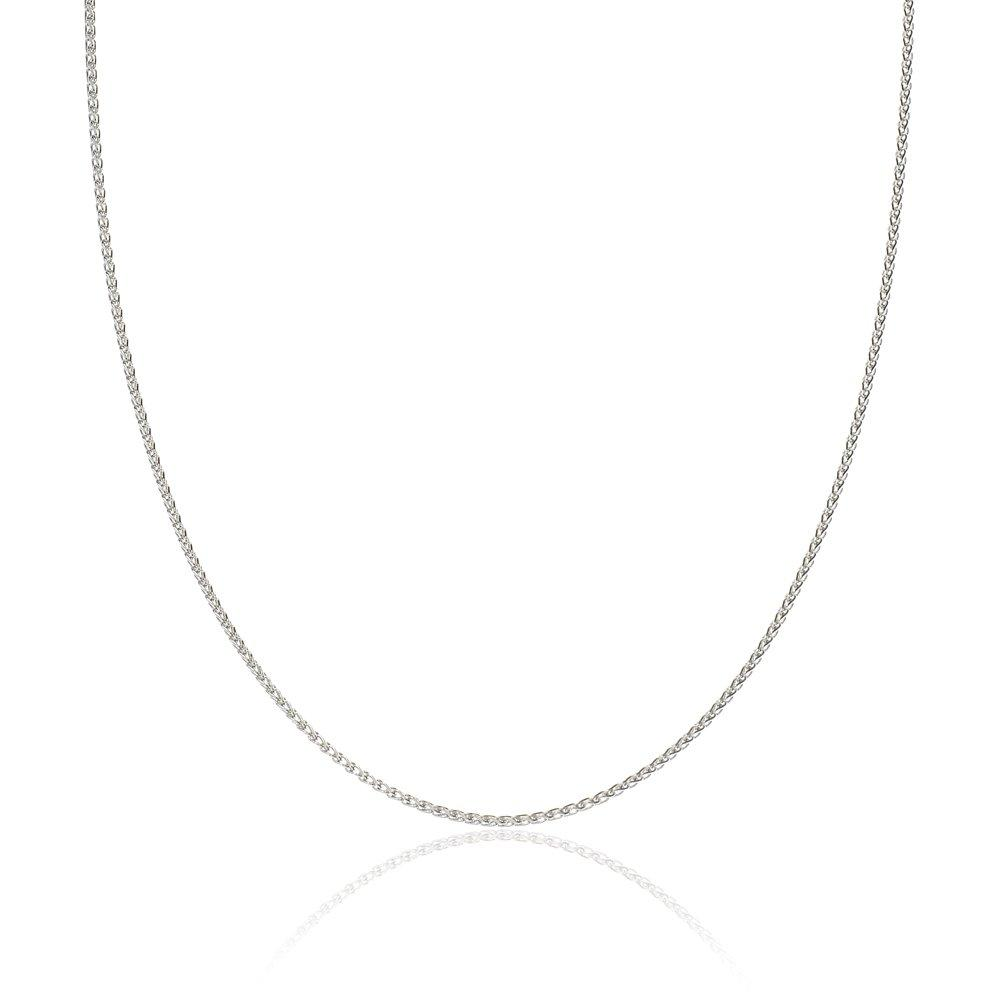 18ct White Gold Spiga Chain