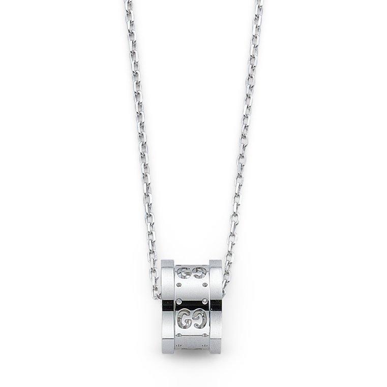 Gucci Icon Twirl 18ct White Gold Pendant