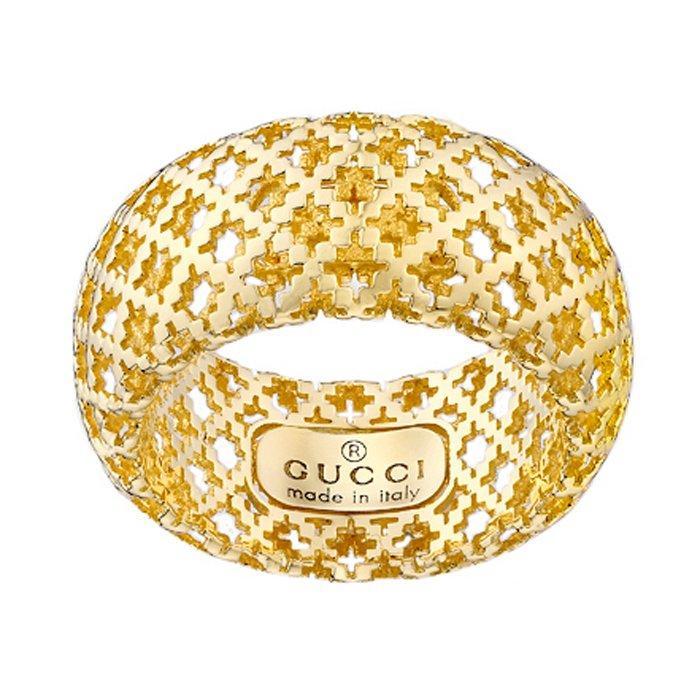 Gucci 18ct Gold Diamantissima Ring