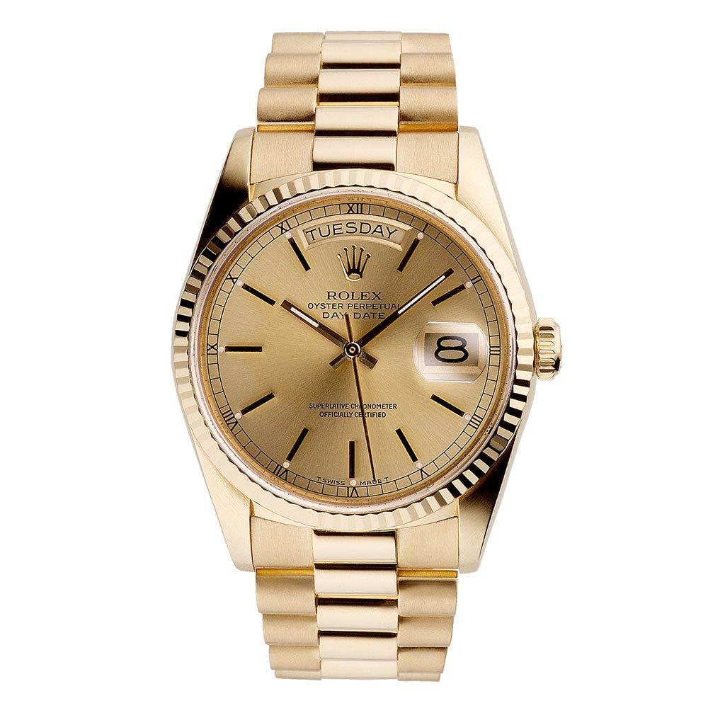 Rolex Pre-Owned Day Date 18ct Gold Automatic Men's Watch